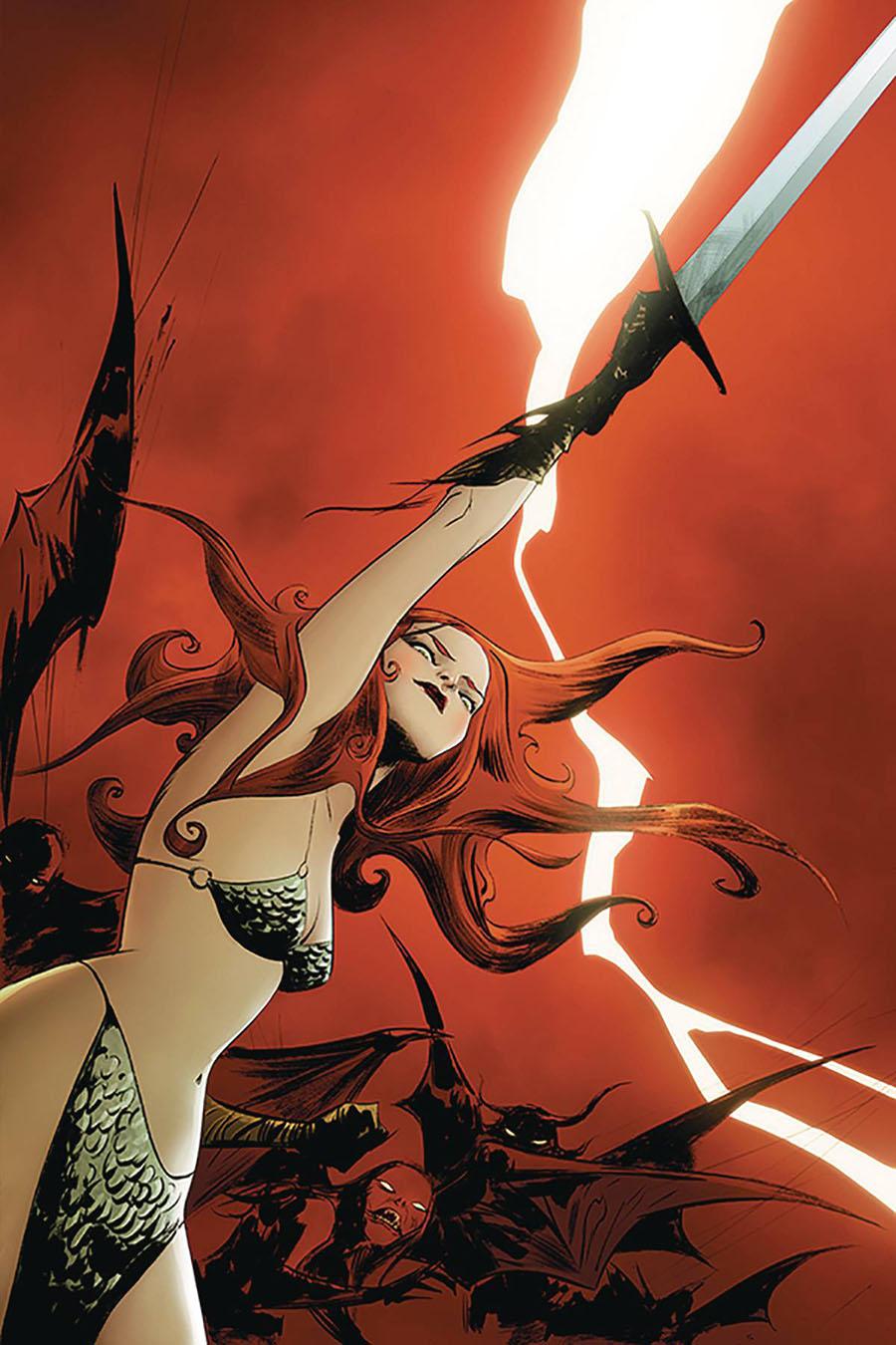 Vampirella Red Sonja #8 Cover R Limited Edition Jae Lee Virgin Cover