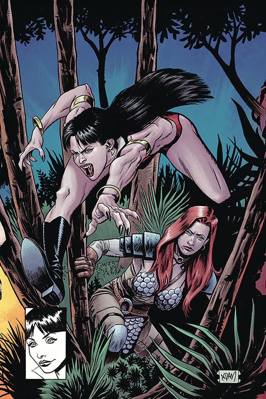 Vampirella Red Sonja #8 Cover T Limited Edition Adam Gorham Todd McFarlane Homage Virgin Cover