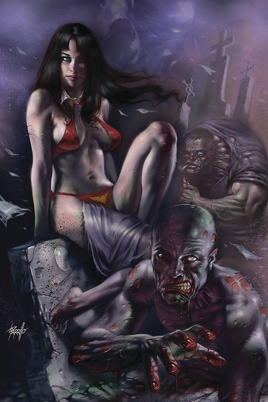 Vengeance Of Vampirella Vol 2 #7 Cover O Limited Edition Lucio Parrillo Virgin Cover