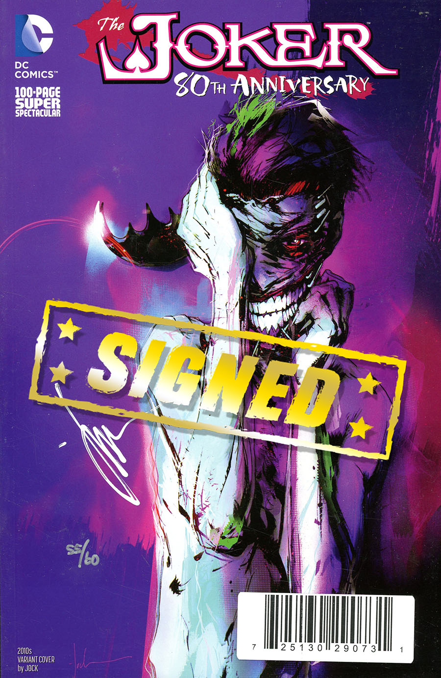 Joker 80th Anniversary 100-Page Super Spectacular #1 Cover M DF Signed By Jock