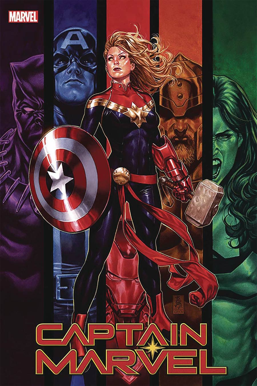 Captain Marvel Vol 9 #16 Cover F DF Signed By Mark Brooks