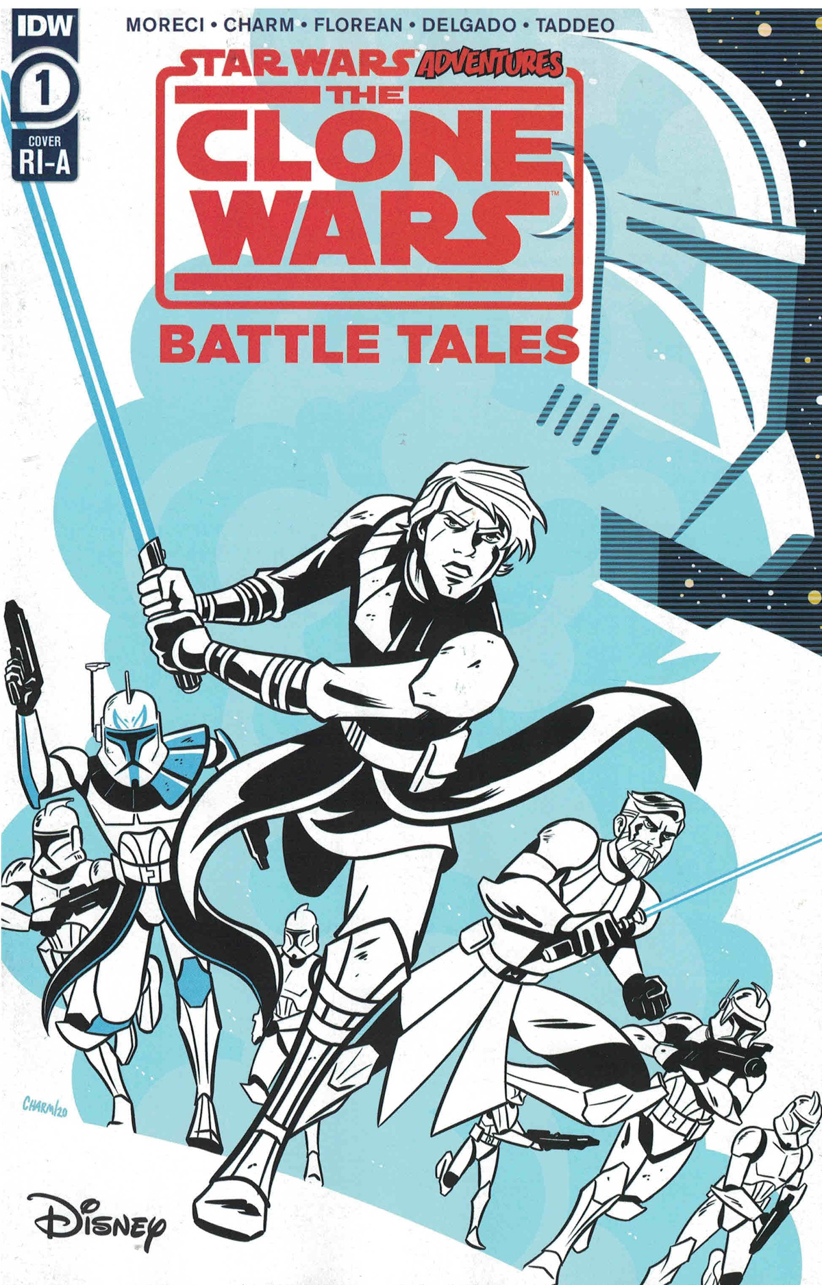Star Wars Adventures Clone Wars Battle Tales #1 Cover B Incentive Derek Charm Variant Cover
