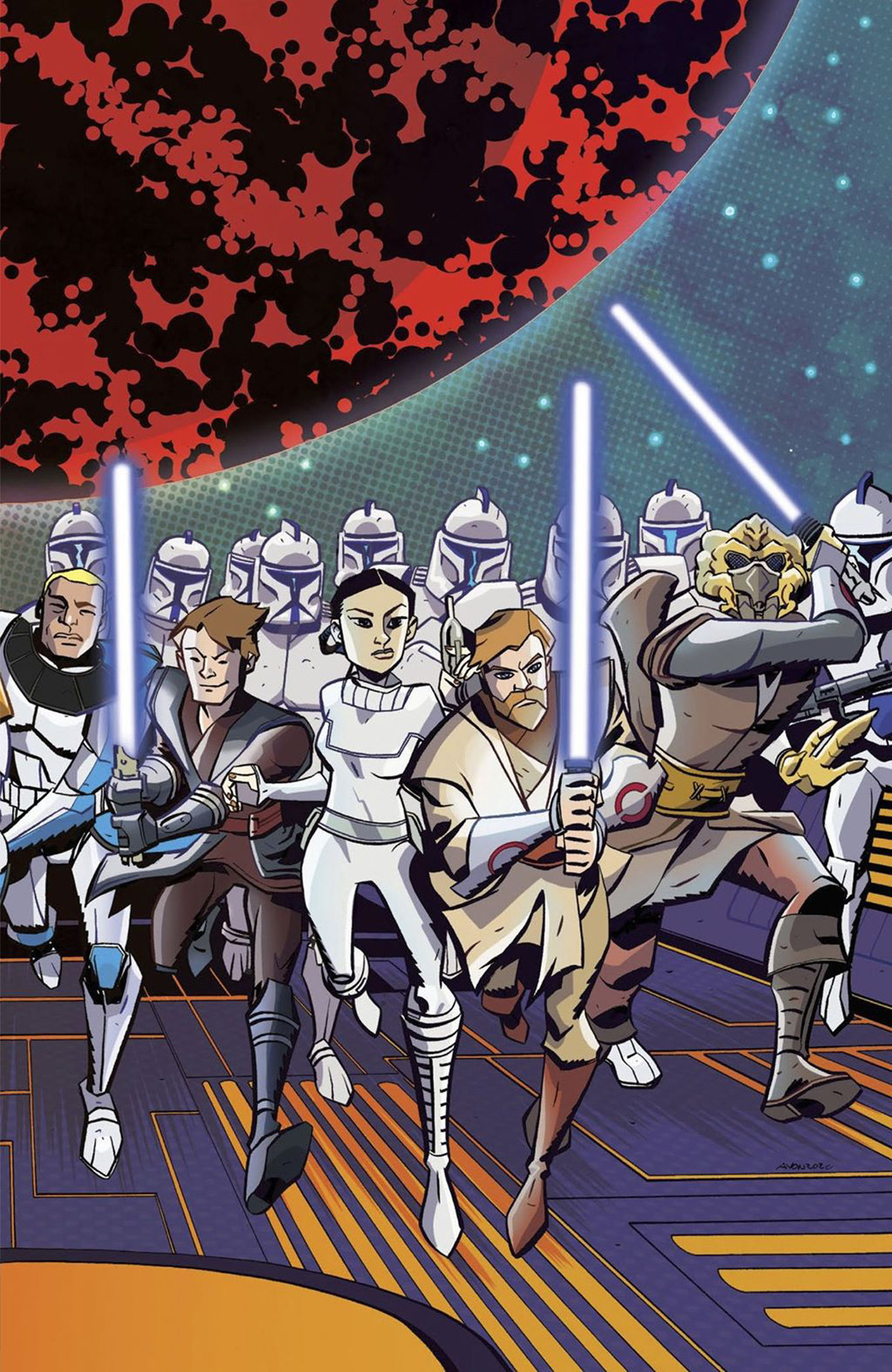 Star Wars Adventures Clone Wars Battle Tales #1 Cover C Incentive Michael Avon Oeming Variant Cover