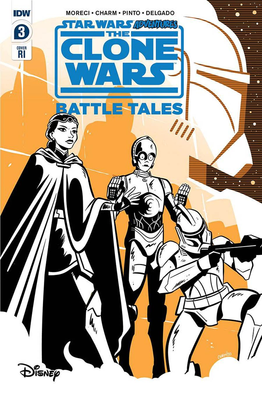 Star Wars Adventures Clone Wars Battle Tales #3 Cover B Incentive Derek Charm Variant Cover