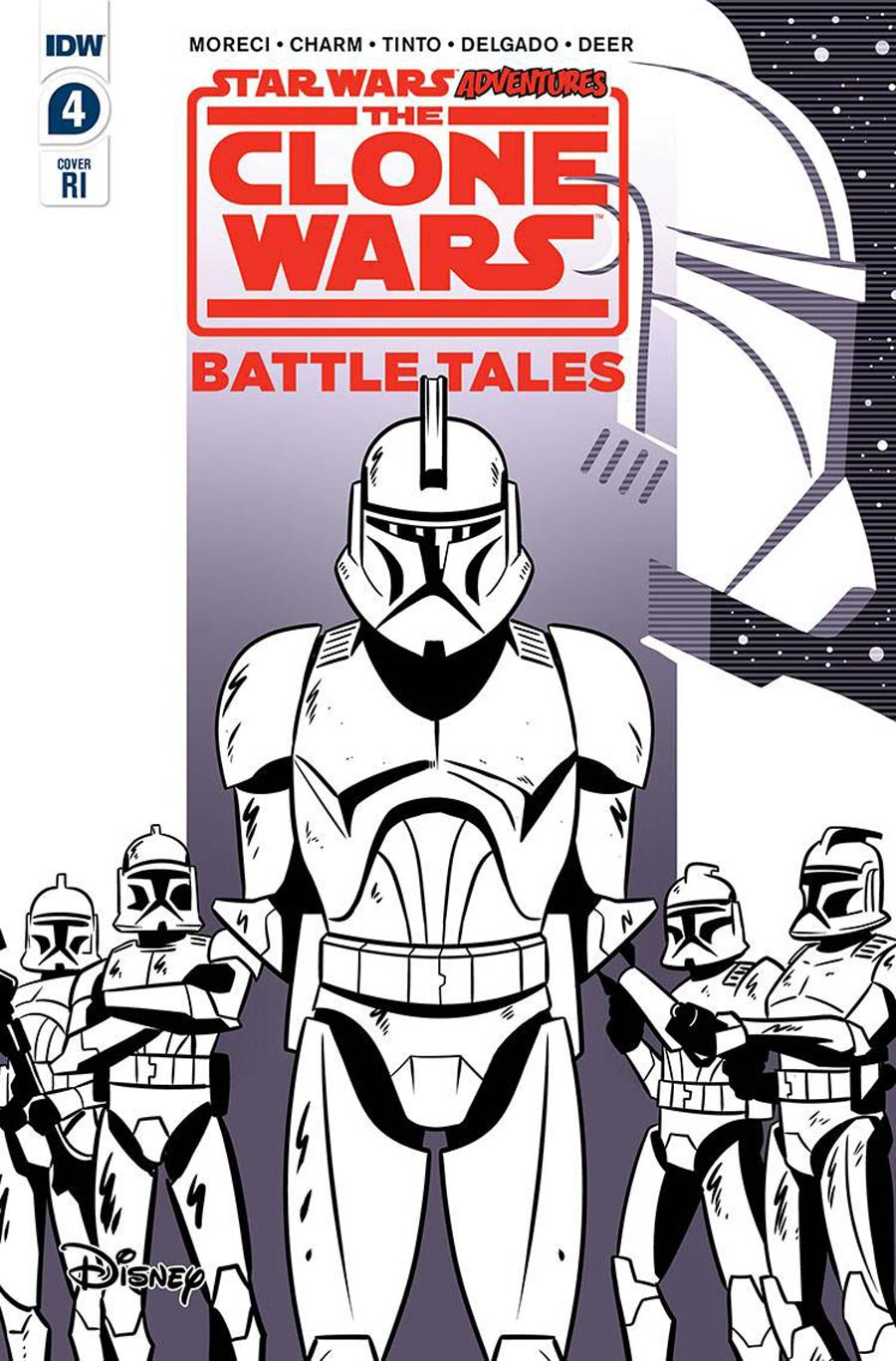 Star Wars Adventures Clone Wars Battle Tales #4 Cover B Incentive Derek Charm Variant Cover