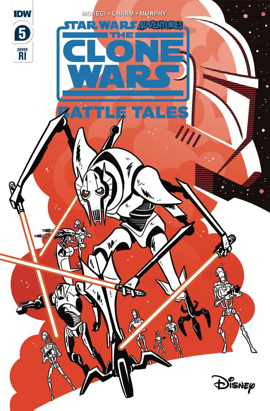 Star Wars Adventures Clone Wars Battle Tales #5 Cover B Incentive Derek Charm Variant Cover