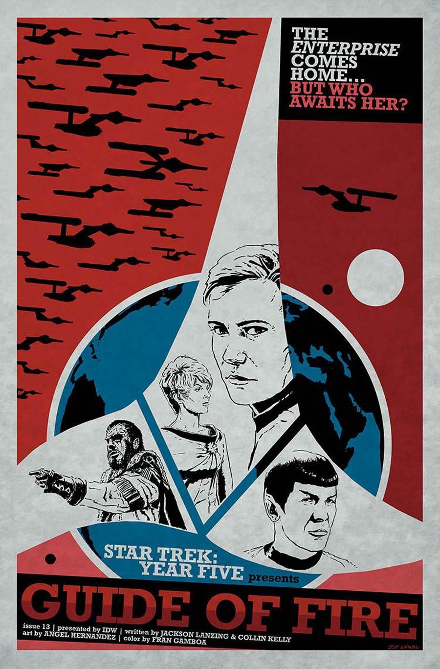 Star Trek Year Five #13 Cover B Incentive JJ Lendl Variant Cover