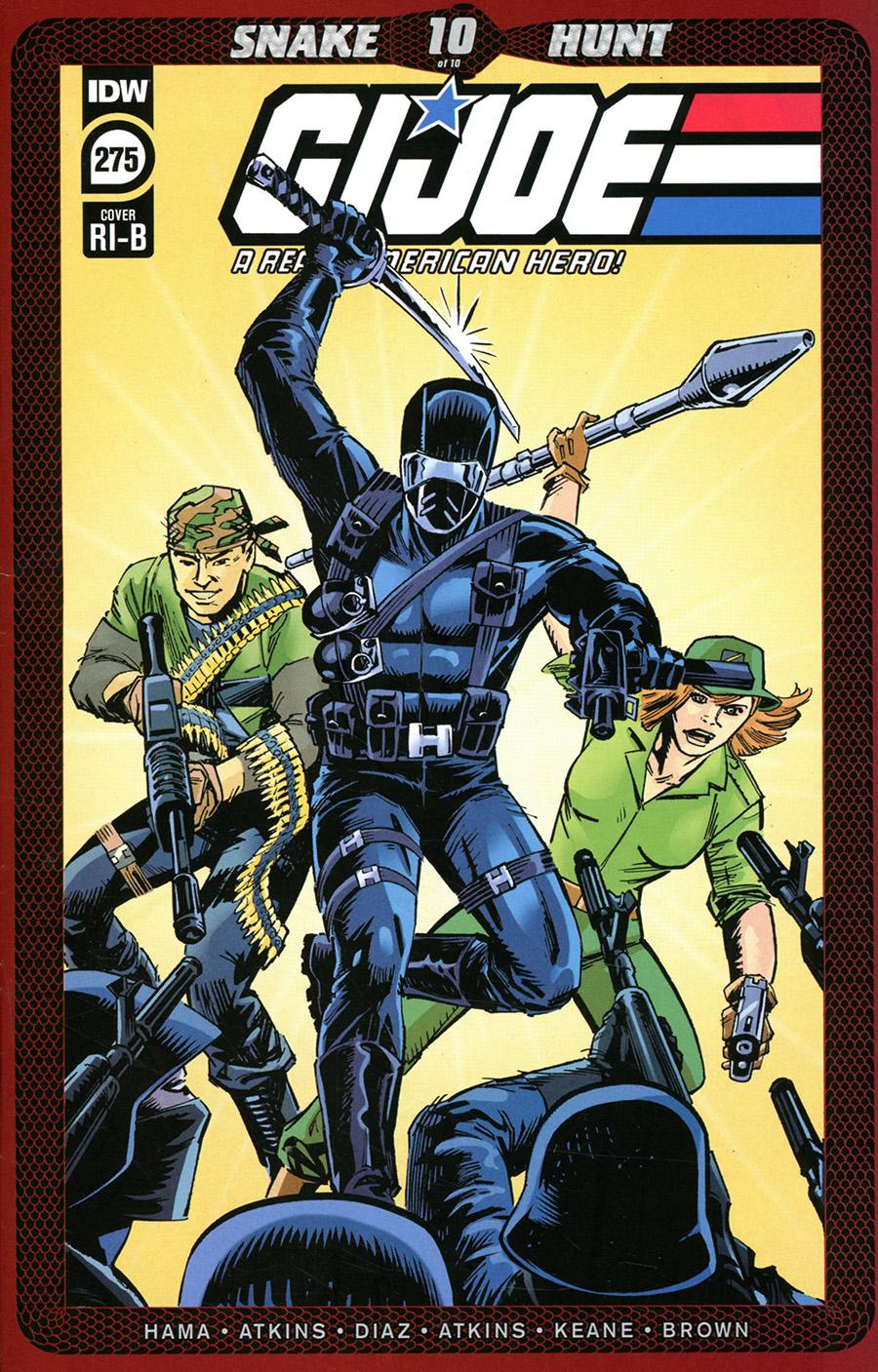 GI Joe A Real American Hero #275 Cover D Incentive Larry Hama & Steve Leialoha Variant Cover