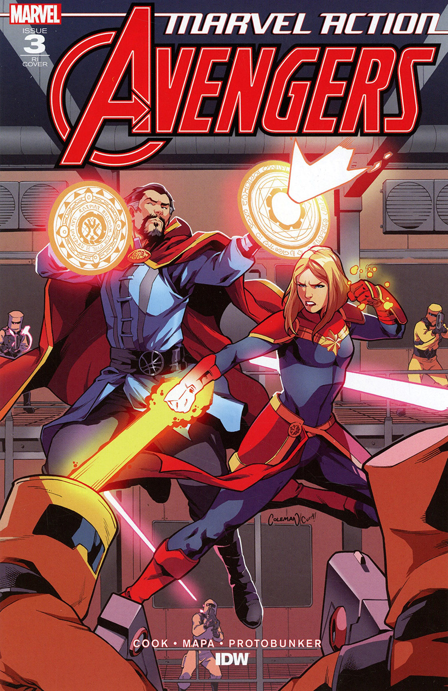 Marvel Action Avengers Vol 2 #3 Cover B Incentive Ruairi Coleman & Bracadri Curry Variant Cover