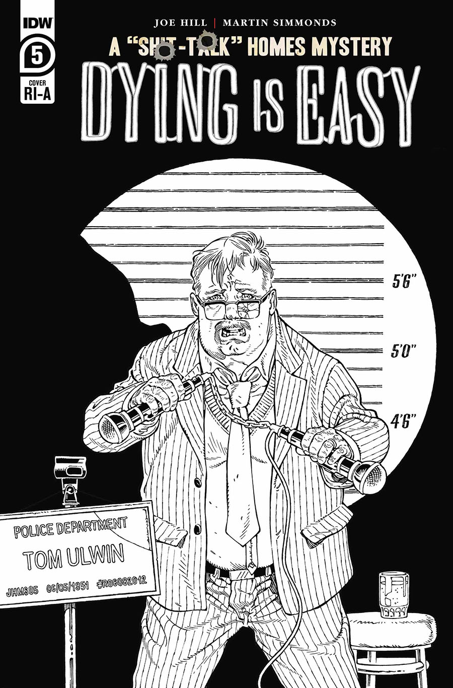Dying Is Easy #5 Cover C Incentive Gabriel Rodriguez Black & White Cover