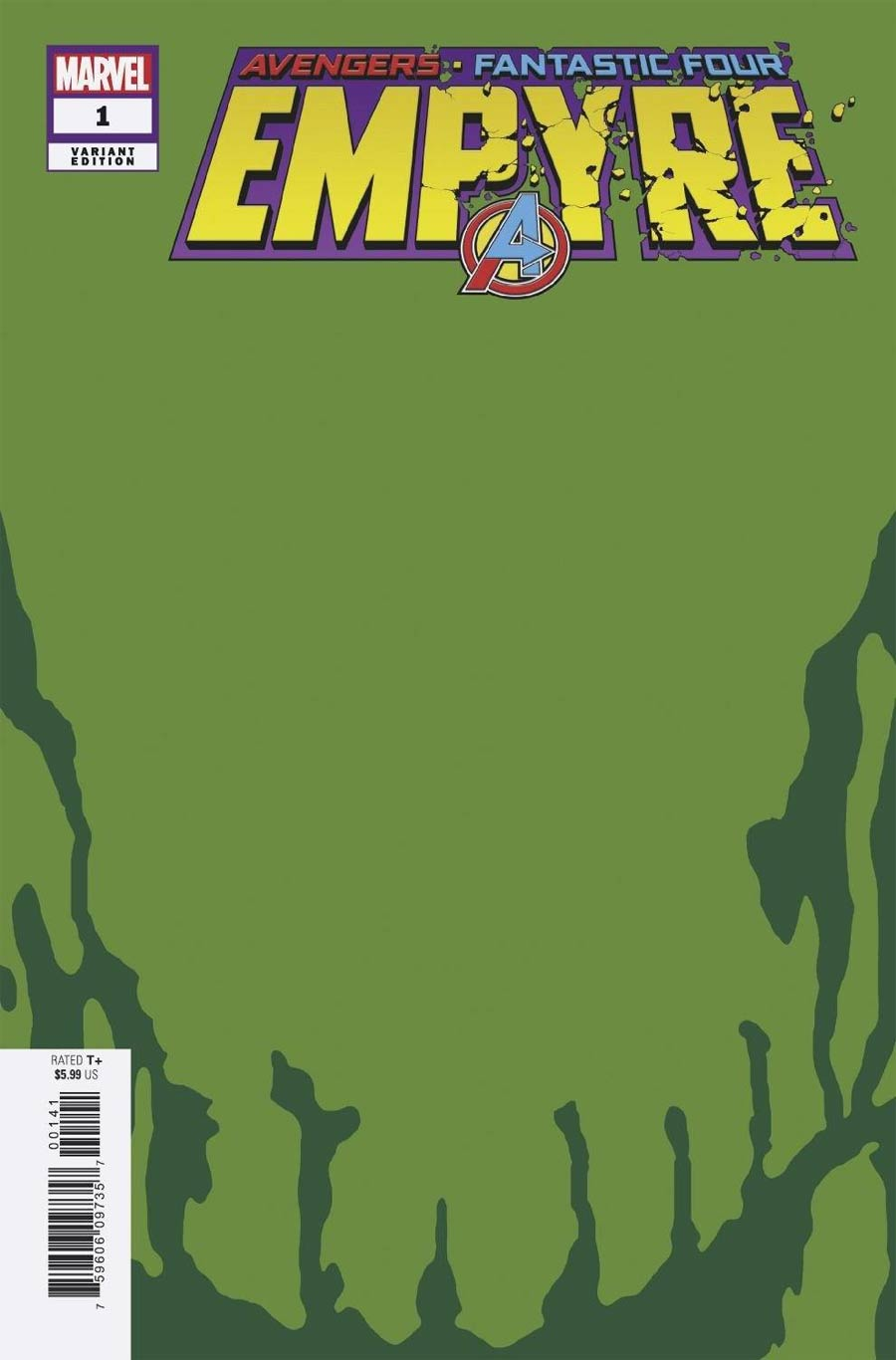 Empyre #1 Cover M Incentive Skrull Green Variant Cover