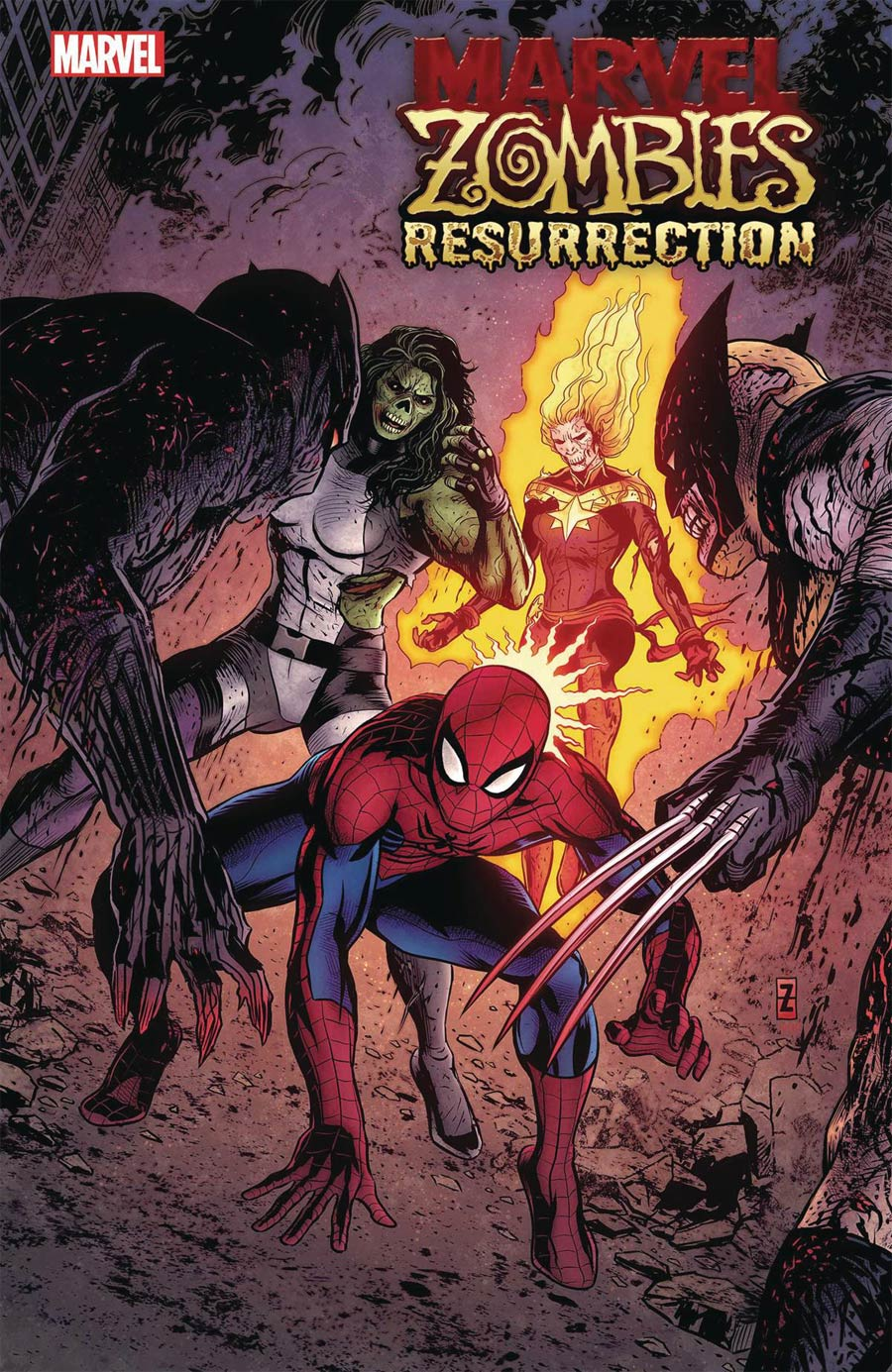 Marvel Zombies Resurrection #1 Cover F Incentive Patrick Zircher Variant Cover