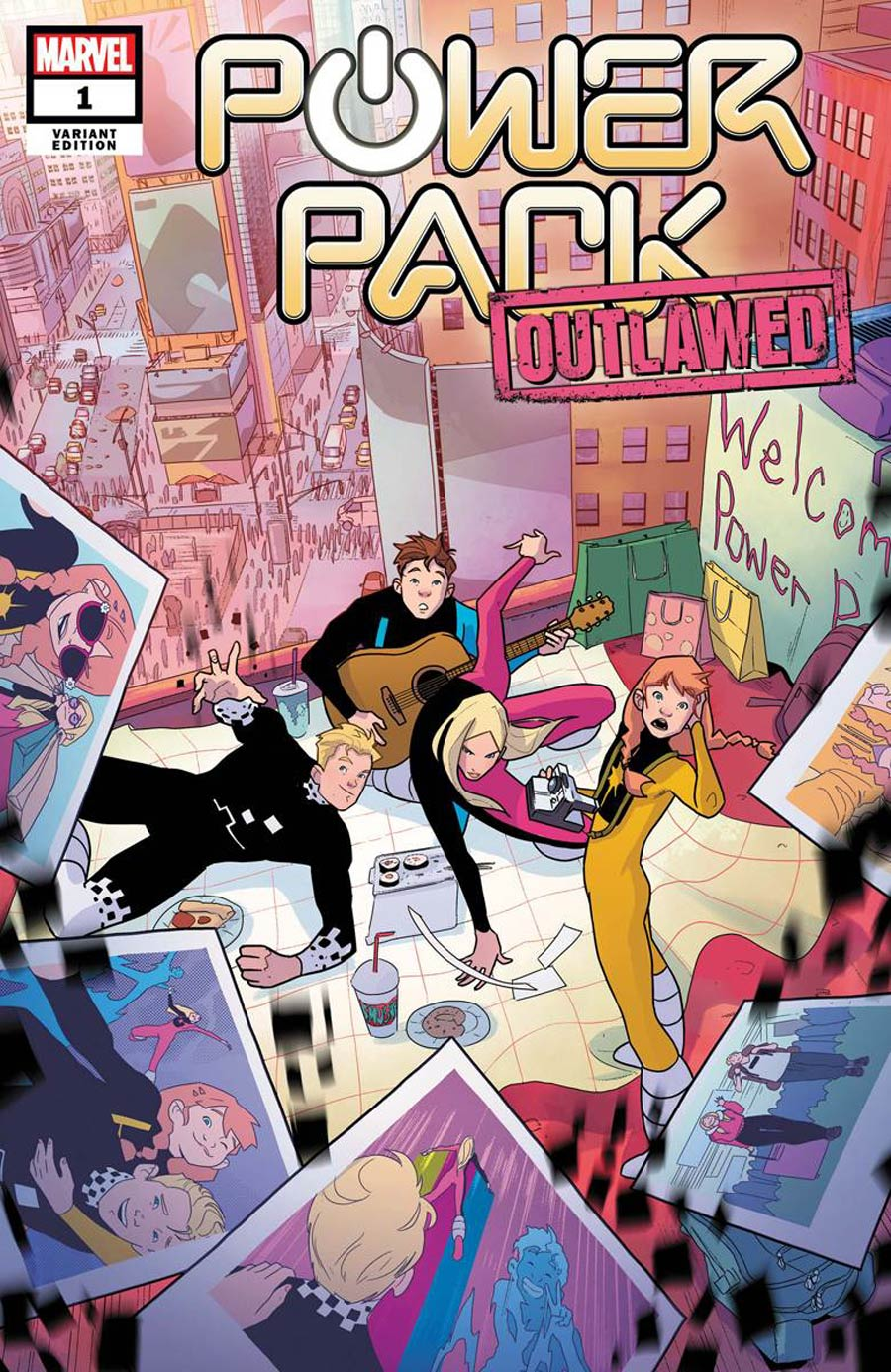 Power Pack Vol 4 #1 Cover D Incentive Nico Leon Variant Cover (Outlawed Tie-In)