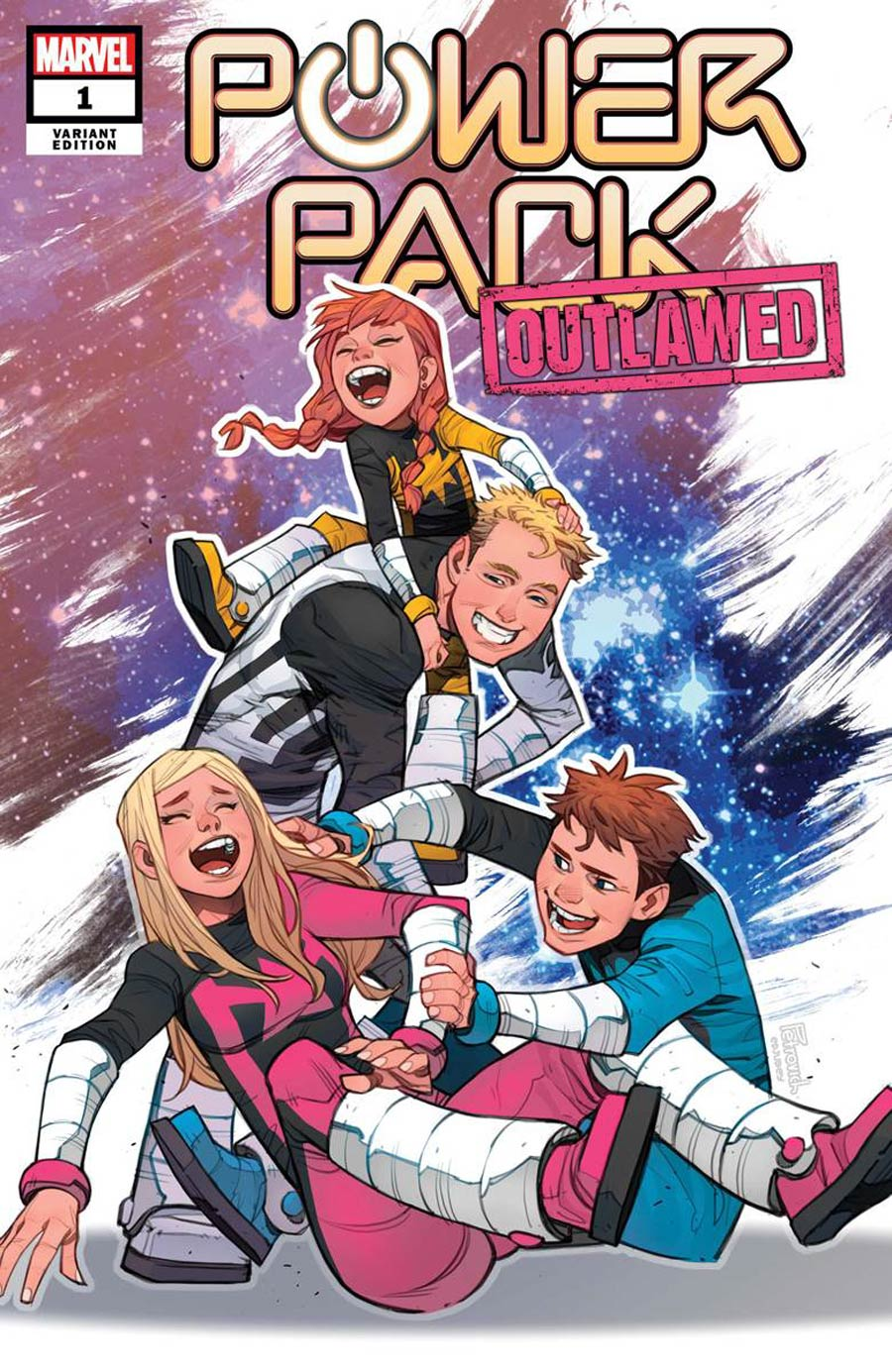 Power Pack Vol 4 #1 Cover C Incentive Eduard Petrovich Variant Cover (Outlawed Tie-In)