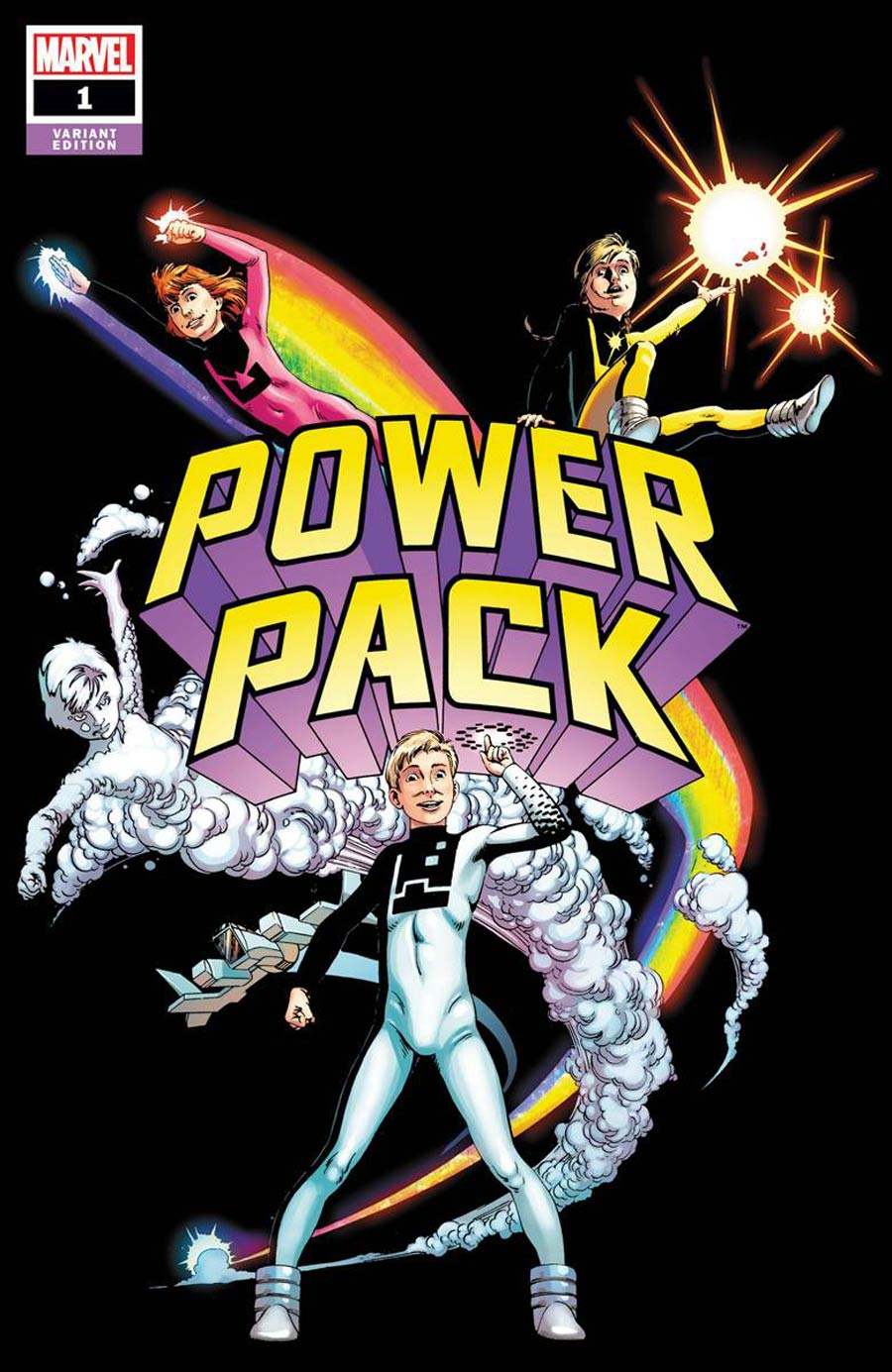 Power Pack Vol 4 #1 Cover E Incentive June Brigman Hidden Gem Variant Cover (Outlawed Tie-In)