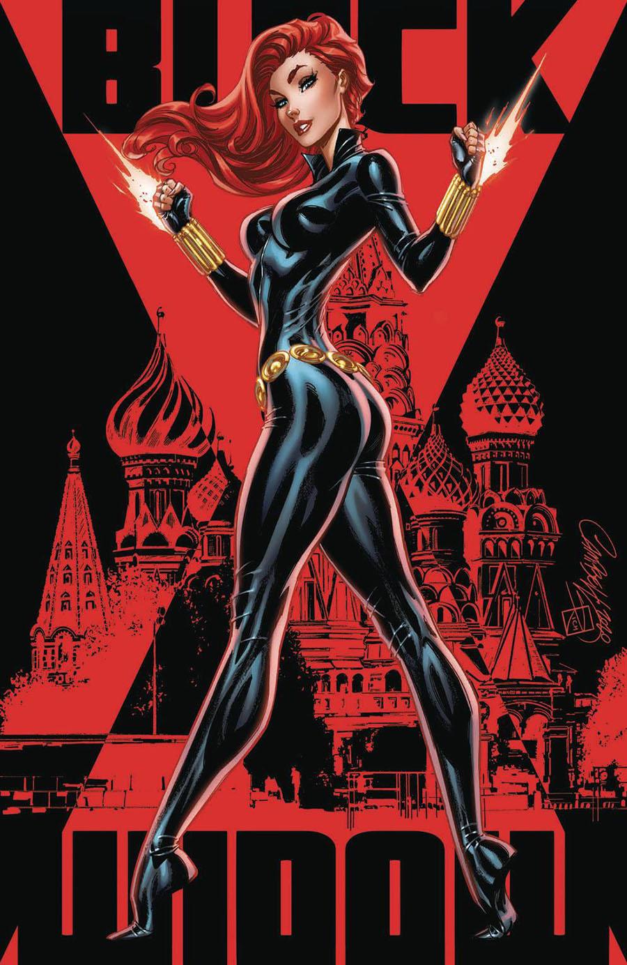 Black Widow Vol 8 #1 Cover H Incentive J Scott Campbell Virgin Variant Cover