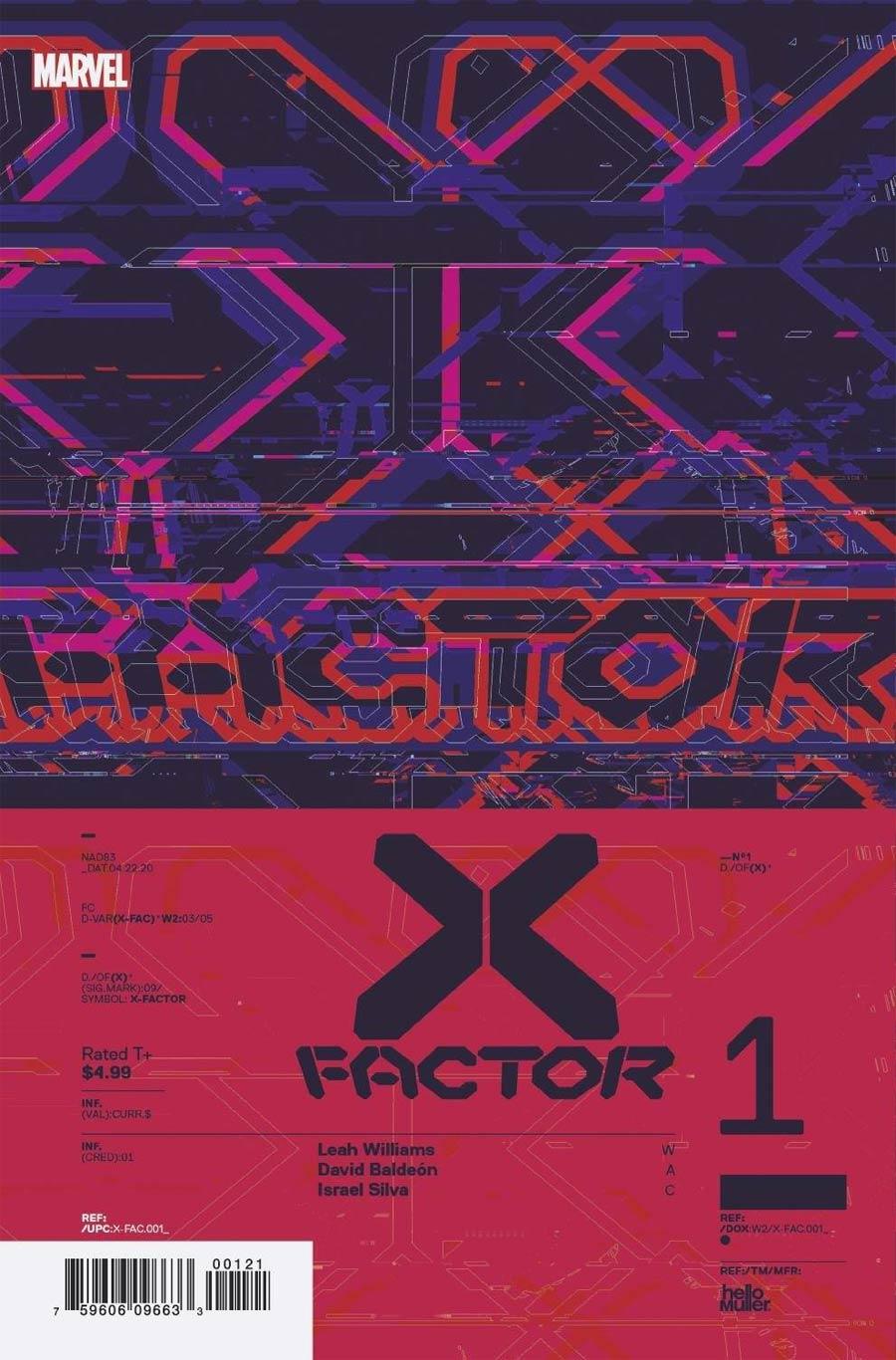 X-Factor Vol 4 #1 Cover C Incentive Tom Muller Design Variant Cover