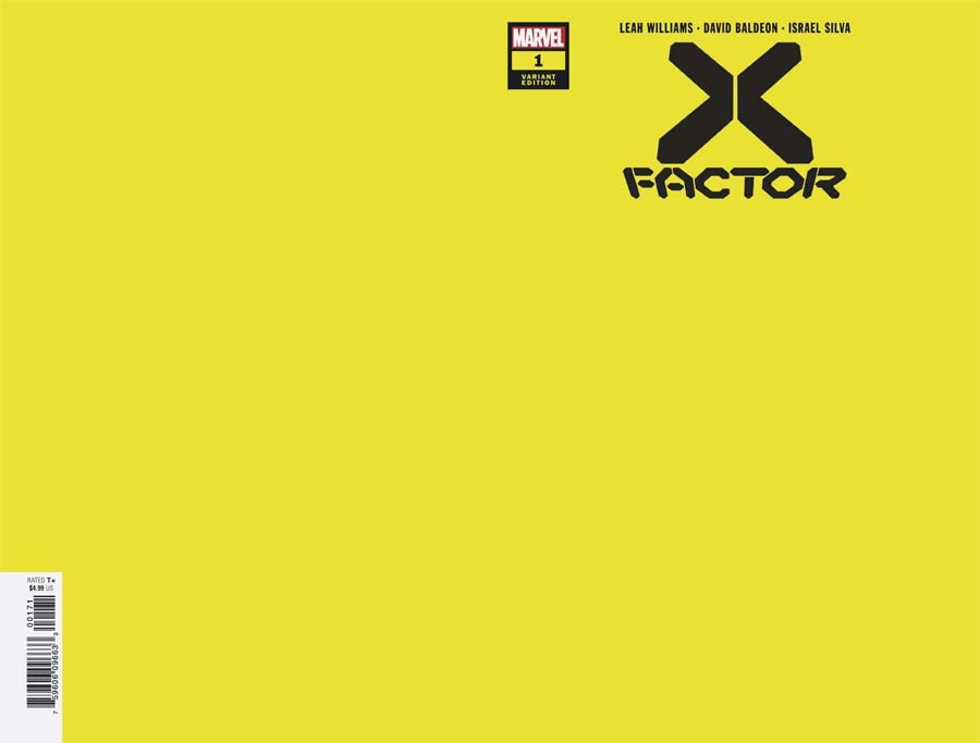 X-Factor Vol 4 #1 Cover G Incentive Yellow Variant Cover