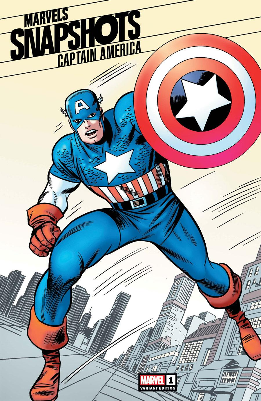 Captain America Marvels Snapshots #1 Cover C Incentive Jack Kirby Hidden Gem Variant Cover