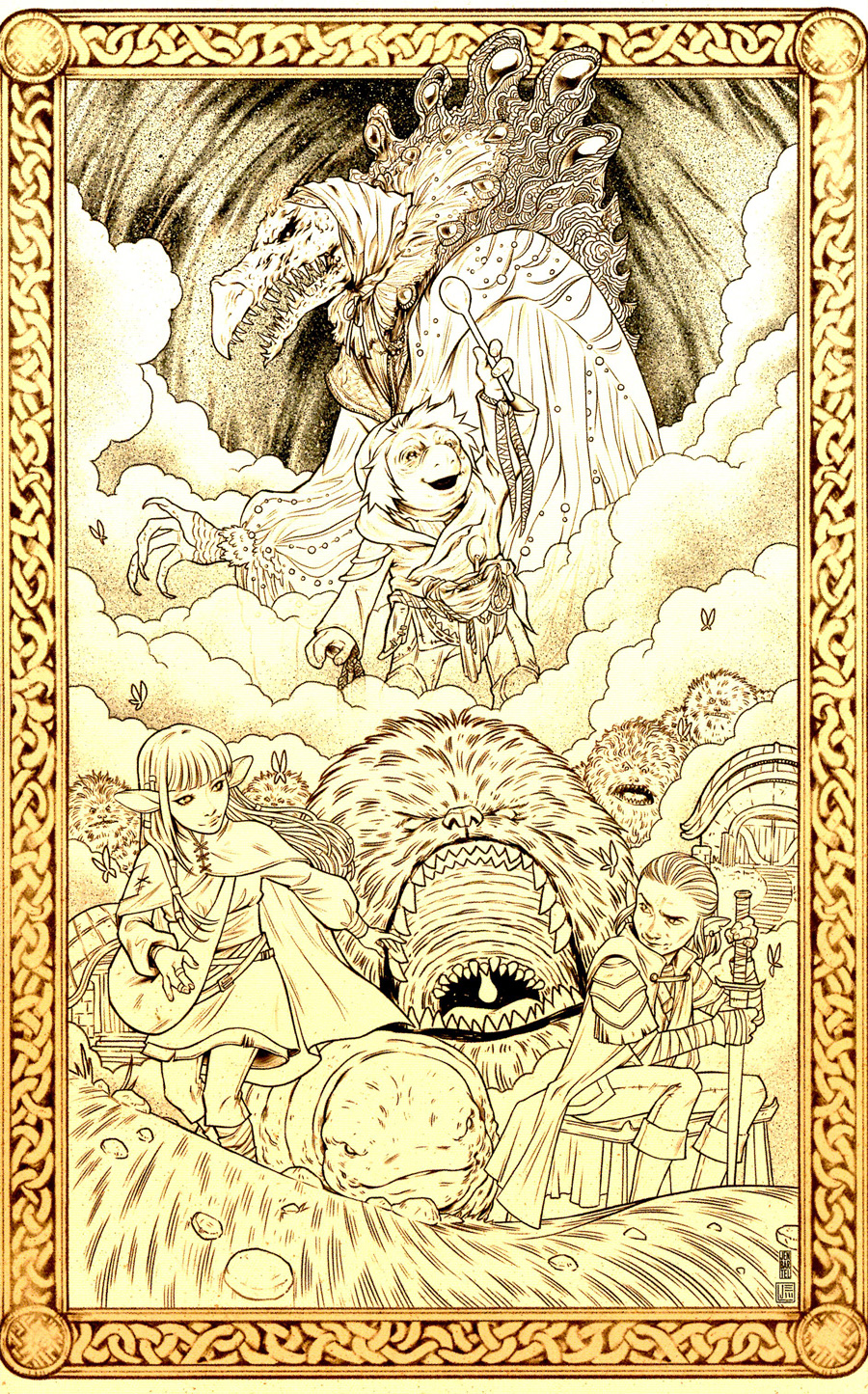Jim Hensons Dark Crystal Age Of Resistance #8 Cover D Incentive Jake Wyatt & Jen Bartel Variant Cover