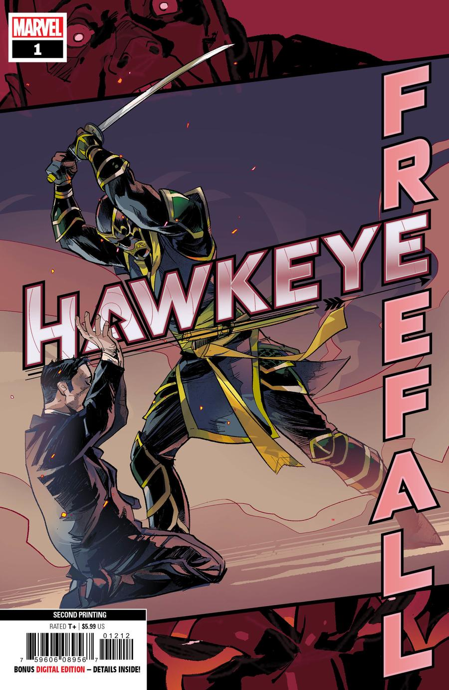 Hawkeye Freefall #1 Cover G 2nd Ptg Otto Schmidt Variant Cover