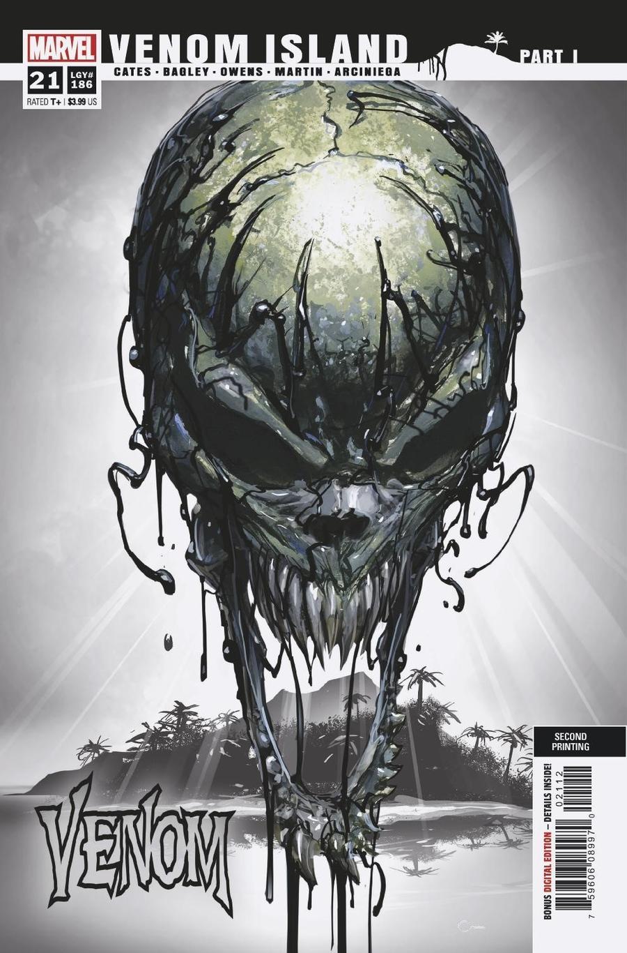 Venom Vol 4 #21 Cover F 2nd Ptg Clayton Crain Variant Cover