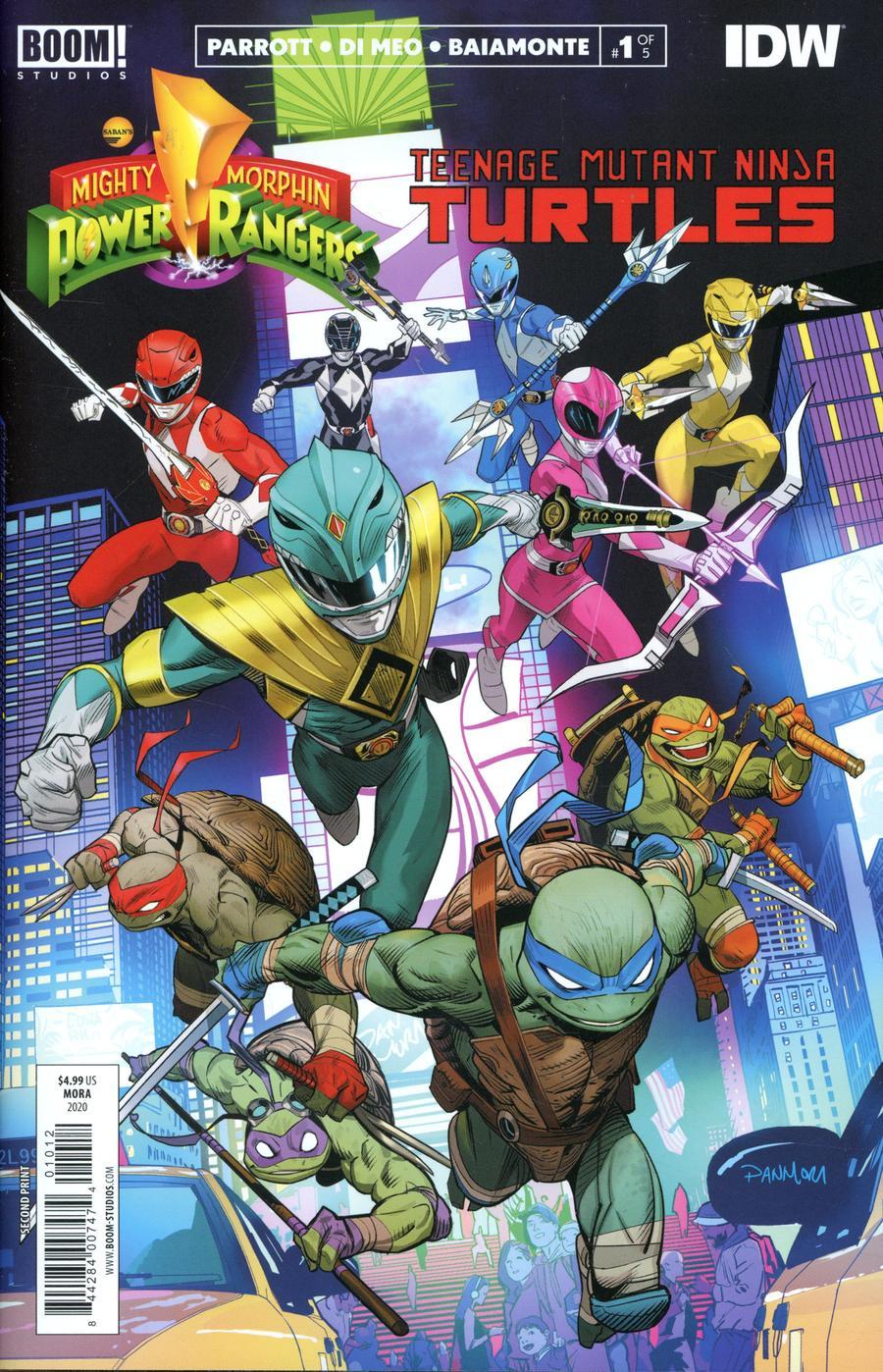 Mighty Morphin Power Rangers Teenage Mutant Ninja Turtles #1 Cover K 2nd Ptg Regular Dan Mora Cover