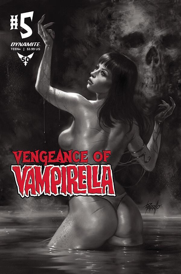 Vengeance Of Vampirella Vol 2 #5 Cover H Incentive Lucio Parrillo Black & White Cover