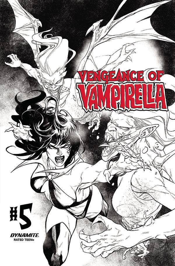 Vengeance Of Vampirella Vol 2 #5 Cover I Incentive Stephen Segovia Black & White Cover