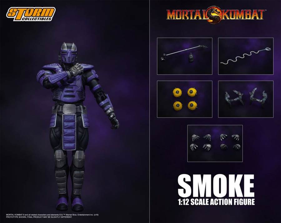 Mortal Kombat 1/12 - Cyber Ninja Smoke (Event Exclusive) Action Figure
