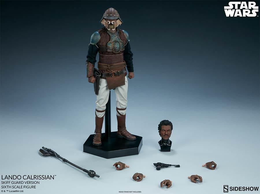Star Wars Episode VI Return Of The Jedi Lando Calrissian Skiff Guard Version Sixth Scale Figure