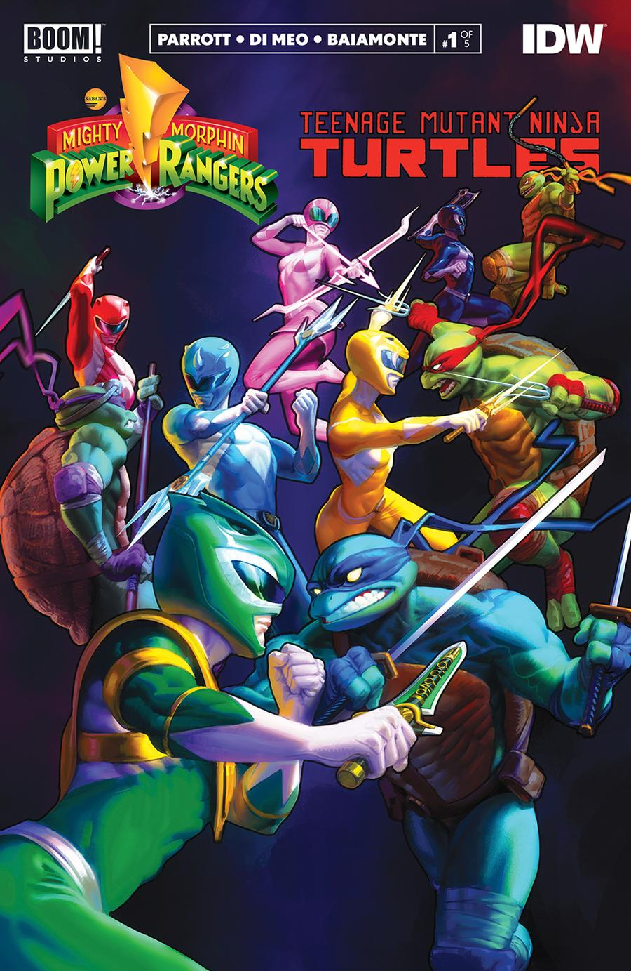 Mighty Morphin Power Rangers Teenage Mutant Ninja Turtles #1 Cover O 3rd Ptg