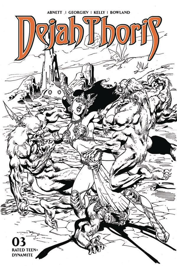Dejah Thoris Vol 3 #3 Cover G Incentive Roberto Castro Black & White Cover