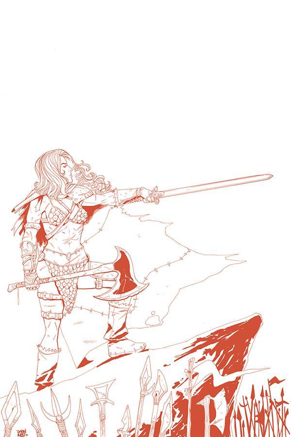 Vampirella Red Sonja #6 Cover K Incentive Drew Moss Tint Virgin Cover
