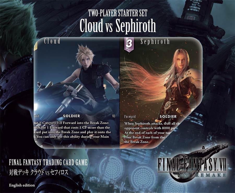 Final Fantasy Cloud vs Sephiroth Starter Set