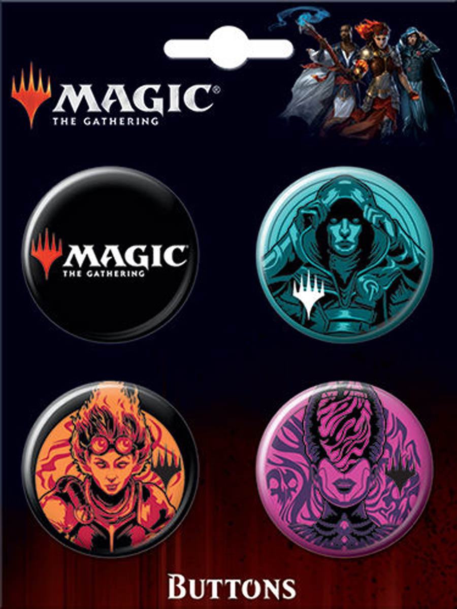 Magic The Gathering Carded 4-Button Set A (87931BT4)