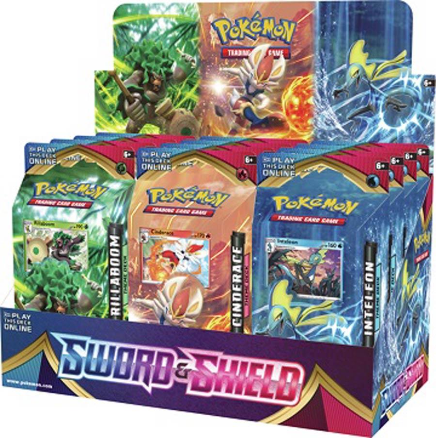 Pokemon TCG Sword And Shield Theme Deck Display Of 12 Decks