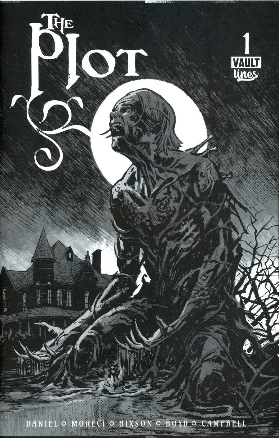 Plot #1 Cover E Black & White Deluxe Edition