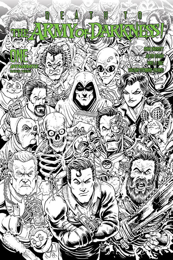 Death To The Army Of Darkness #1 Cover F Incentive Ken Haeser Black & White Cover