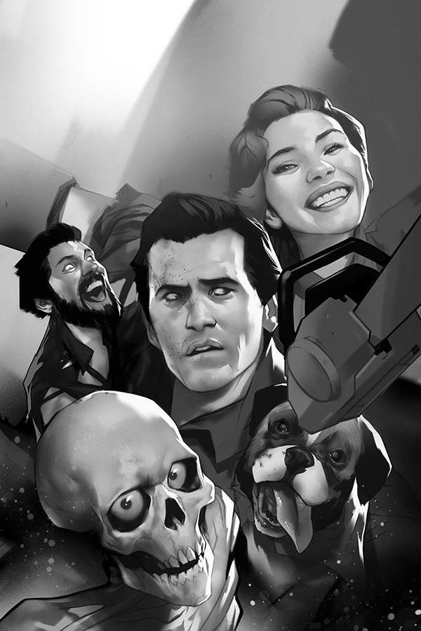 Death To The Army Of Darkness #1 Cover K Incentive Ben Oliver Black & White Virgin Cover