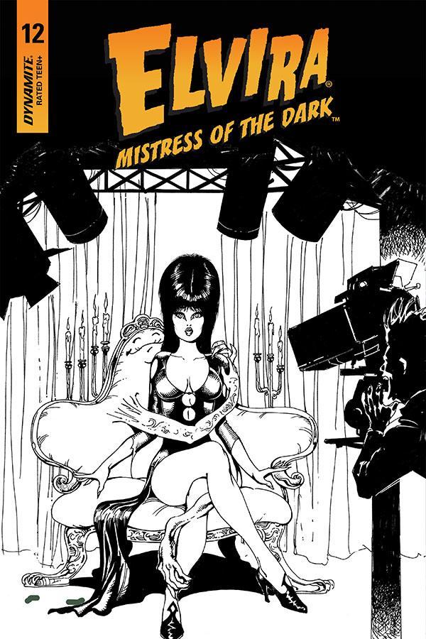 Elvira Mistress Of The Dark Vol 2 #12 Cover G Incentive Roberto Castro Black & White Cover