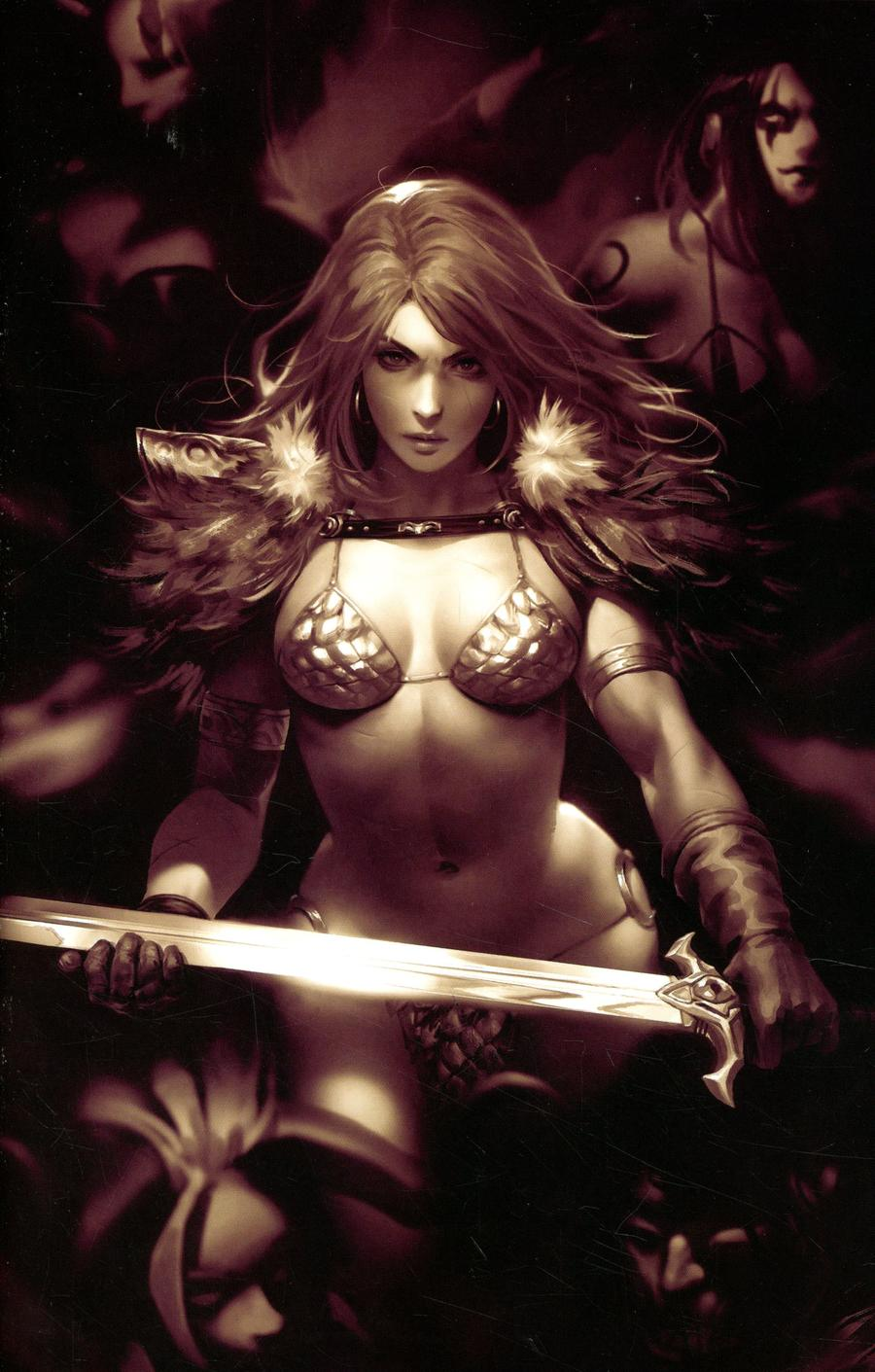 Red Sonja Age Of Chaos #2 Cover K Incentive Derrick Chew Monochrome Virgin Cover