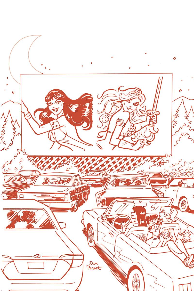 Red Sonja And Vampirella Meet Betty And Veronica #9 Cover I Incentive Dan Parent Tint Red Cover