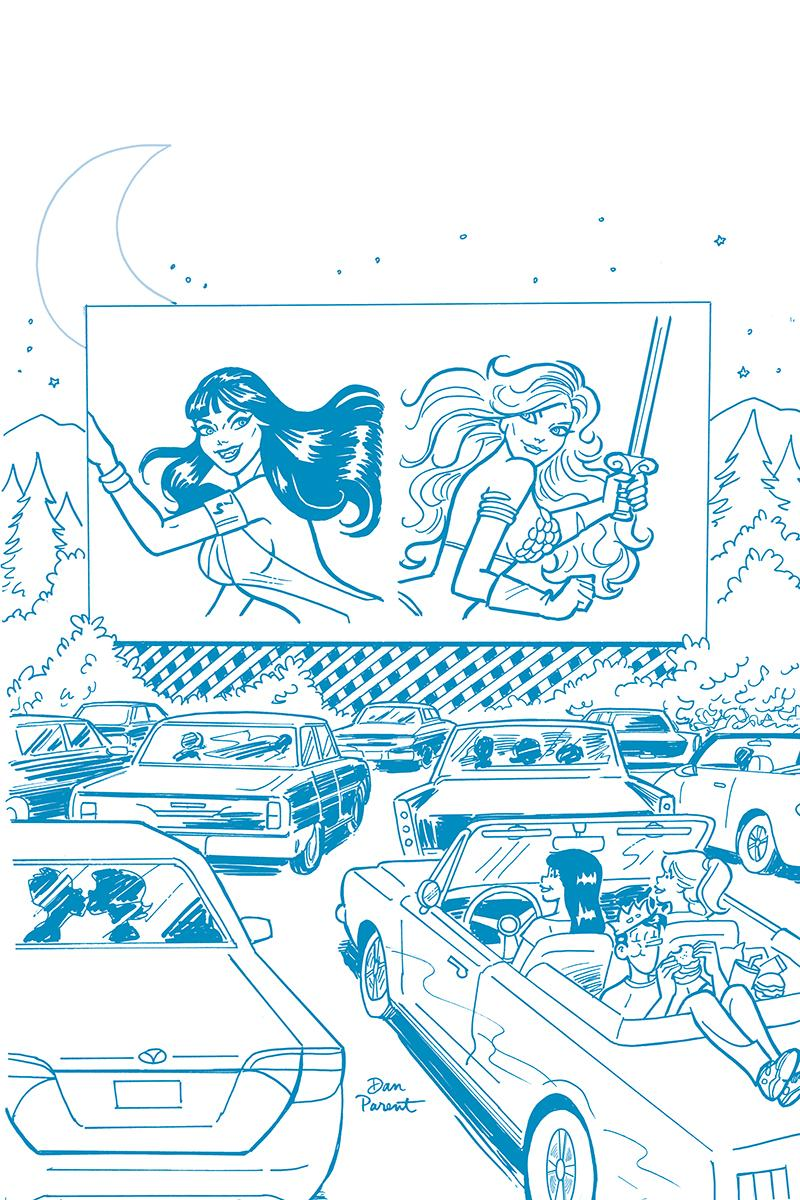 Red Sonja And Vampirella Meet Betty And Veronica #9 Cover K Incentive Dan Parent Tint Blue Cover