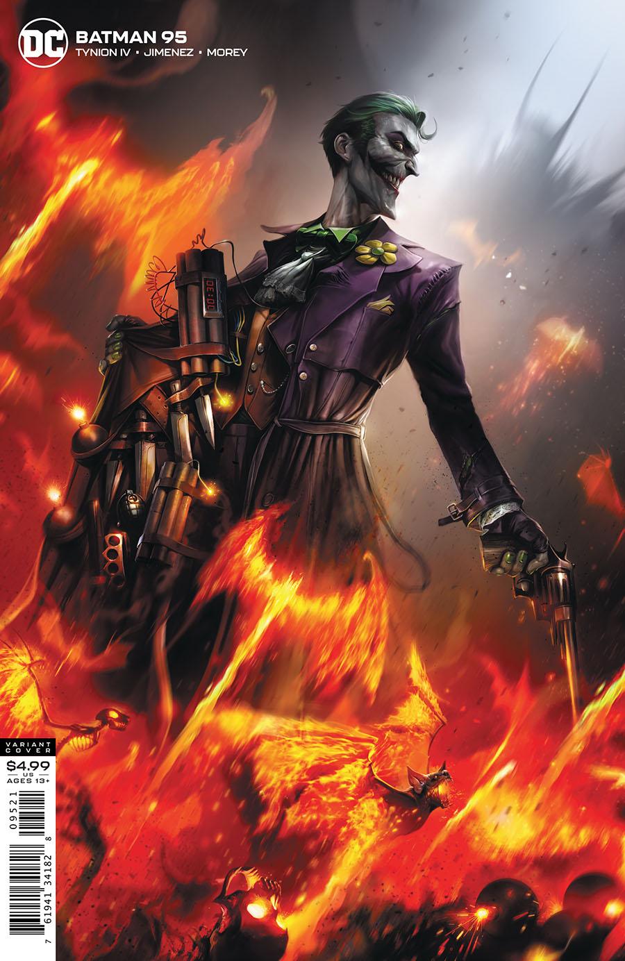 Batman Vol 3 #95 Cover B Variant Francesco Mattina Card Stock Cover (Joker War Tie-In)