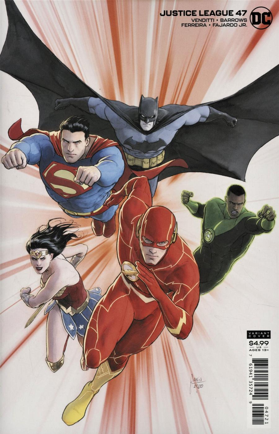 Justice League Vol 4 #47 Cover B Variant Mikel Janin Card Stock Cover