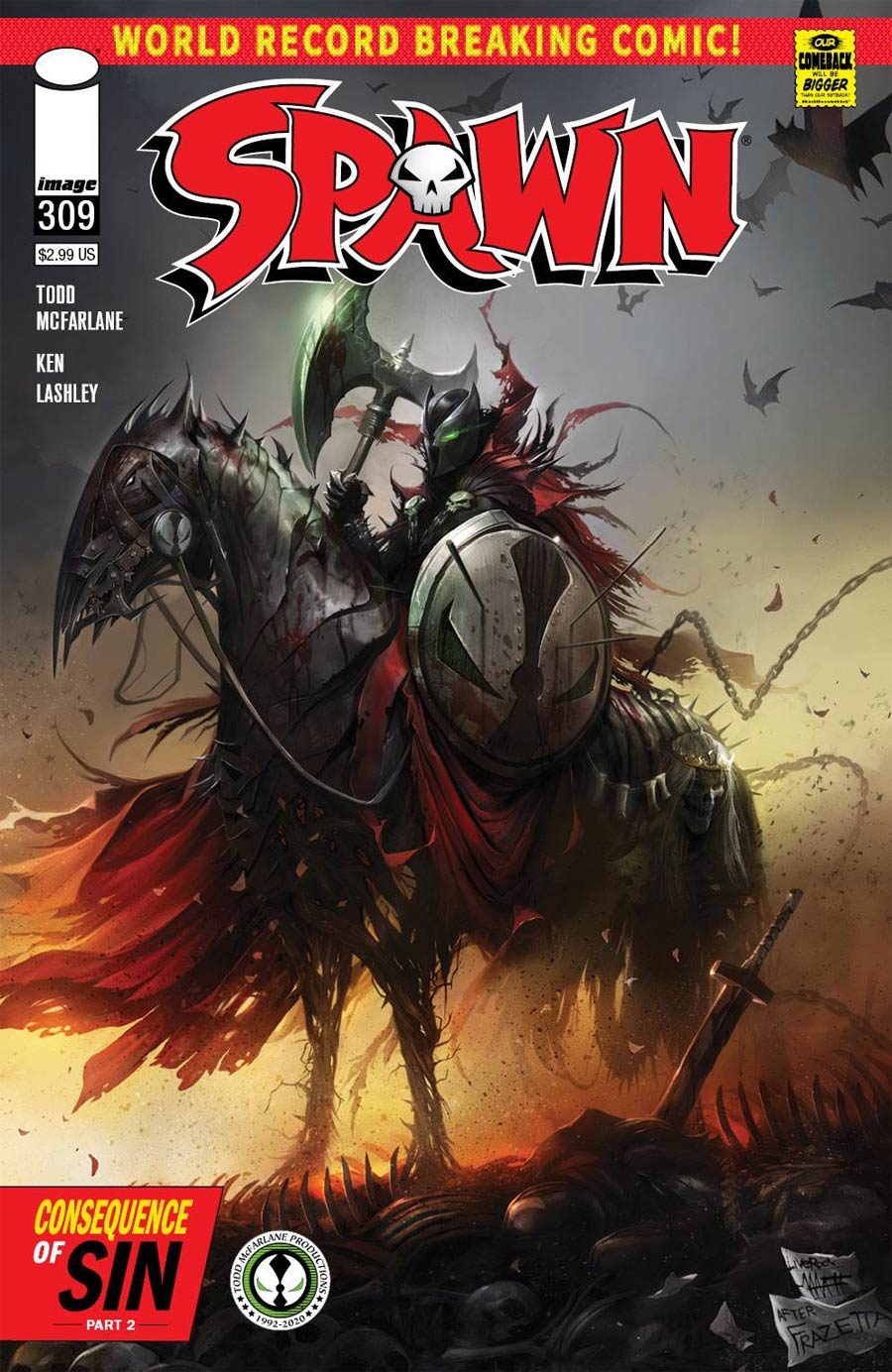 Spawn #309 Cover A 1st Ptg Regular Francesco Mattina Cover