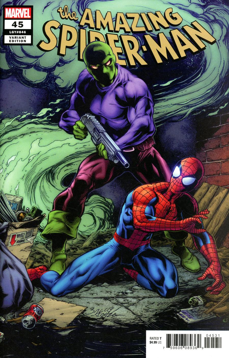Amazing Spider-Man Vol 5 #45 Cover B Variant Mark Bagley Cover