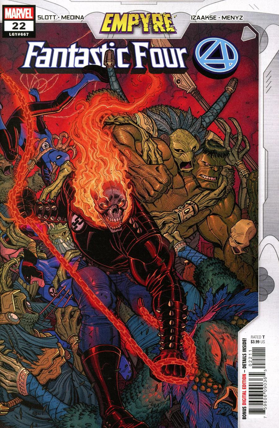Fantastic Four Vol 6 #22 Cover A Regular Nick Bradshaw Cover (Empyre Tie-In)