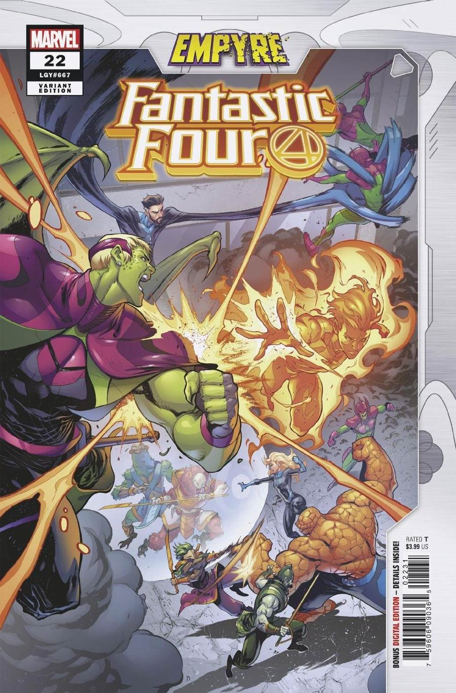 Fantastic Four Vol 6 #22 Cover B Variant Iban Coello Empyre Cover (Empyre Tie-In)